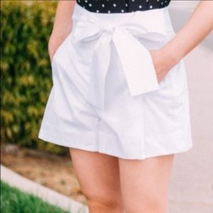 J crew tie waist high rise shorts